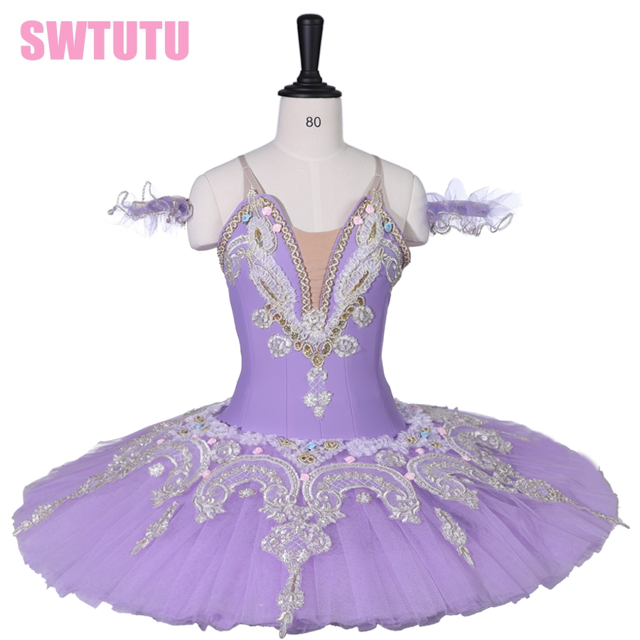 Adult Performance Platter Ballet Stage Costume Child Lilac Sleeping Beauty Professional Ballet Tutu for Women BT9059C