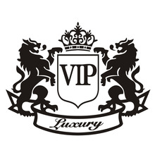 Classic Car Accessories Modification Car-Styling Stickers Two Lions VIP Car-Covers Whole Body Car Sticker CT-244