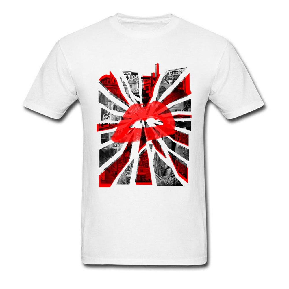Kisses from the city Unique Short Sleeve Tops T Shirt Summer Crewneck All Cotton Man T Shirt Unique T-shirts 2018 Hot Sale Kisses from the city white