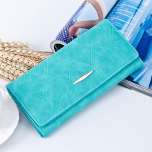 New Fashion Women Wallet Female Cash Purse Brand Matte Suede Zipper Long Wallets Women Solid Hasp ID Card Holder Pocket