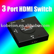 kebidumei 3 Port HDMI Switch Adapter HDMI Switcher Splitter Converter For PS3 HDTV 1080P HD Vedio XOBX 360(China)