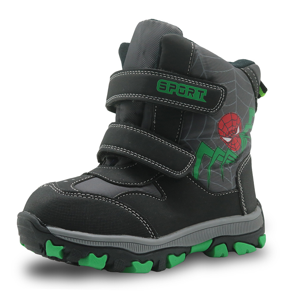 Mid-calf Bungee Lacing Kids Snow Boots Waterproof Boys Boots Big Boys Sport Shoes Wollen Lining Kids Boots for Boys<br>