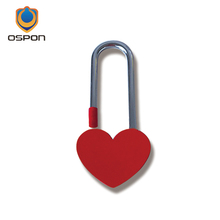 Long beam red love heart lock, Valentine's Day birthday gift, Christmas essential lover locks(China)