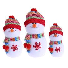 Christmas Foam Snowman Ornament Lovely 3 Size Rainbow Hat Snowman Doll Party Festival Gifts Home Navidad Decoration(China)