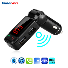 Upgraded Wireless 3.5mm AUX Bluetooth Car Kit MP3 WMA Car Radio MP3 Player FM Transmitter Modulator HandsFree Dual USB Charger(China)