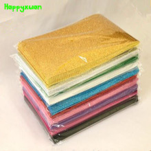 Happyxuan 10pcs/pack 20*30cm Eva Foam Glitter A4 Gold Powder Sponge Paper Handmade DIY Crafts Materials Kids(China)