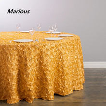 70inch 90inch 108inch 120inch 132inch rosette table cloth wedding cheap table cloth wedding banquet for sale free shipping(China)