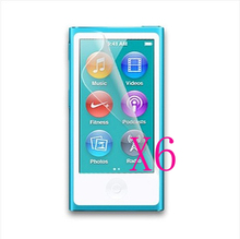 6X For iPod Nano 7 7th Clear Cellphone LCD Screen Protector Film Guard Cover