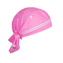 Women's Pink Dandelion Cycling Bicycle Bike Sweat Proof Hat Headband Riding Outdoor Sports Pirate Cap Scarf One-Size CC3522