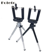 "Foleto Mini Tripod Table Lightweight 1/4"" Screw phone holder digtal camera DV mobile phone Tripod for iphone7 6 5 sumsang huawei(China)"