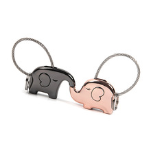 The Elephant Key Chain Couples Car Key Chain Gift(China)