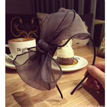 Metting Joura Fashion Women Flower Hair Band Big Knotted Voile Headband Twisted Head Wear Hairbands Accessories(China)