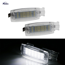 2X 18SMD LED Vanity Mirror Light for Volkswagen Golf GTi EOS Jetta Passat Touran Skoda Superb 2008~