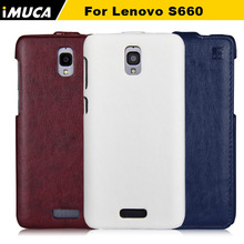 phone cases for Lenovo S660 S668T S 660 flip case cover luxury leather IMUCA Case with retail package(China)