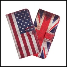 UK USA Flag Cases For Apple iPhone 5C 5 C Leather Phone Wallet Bag Flip Case Cover Coque Fundas Etui Hoesjes Carcasa Capinhas