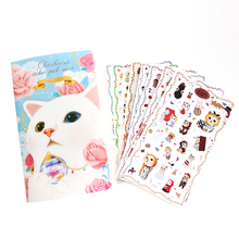 8 Sheets/set New Very Cute Cats Designs Transparent Decoration Pvc Sticker Diary Planner Phone Label Stationery