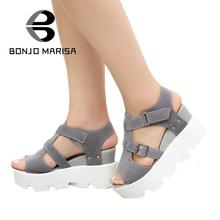 Brand Shoes Woman 2017 New Gladiator Sandals Fashion Summer Shoes Women Buckle Wedges High Heel Open Toe Platform Sandals