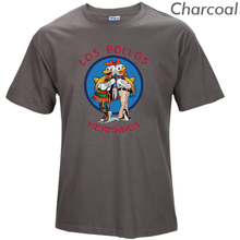 Los Pollos Hermanos T Shirts Men Chicken Brothers Man T-shirts Sitcoms Short Sleeve O Neck Cotton Shirts Rock Brand Clothing T03