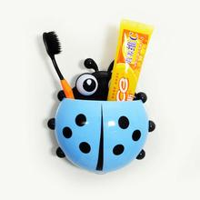 Toothbrush Holder Lovely Ladybug Toothbrush Wall Suction Bathroom Sets Cartoon Sucker Toothbrush Holder / Suction Hooks