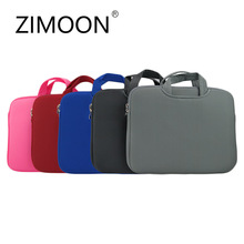 "ZIMOON Portable Ultrabook Handlebag Soft Sleeve Laptop Bag Computer Bag Smart Cover For 11"" 13"" 14""15"" Macbook Air Pro Retina(China)"