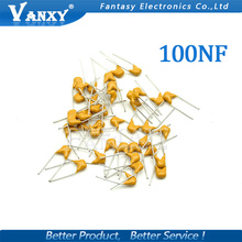 100PCS 100NF 0.1UF 10% 5.08MM 104 50V MLCC multilayer monolithic ceramic capacitor 0805