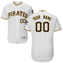 MLB Men's Pittsburgh Pirates Baseball Home White Flex Base Authentic Collection Custom Jersey(China)