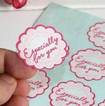 120PCS Embossed Flower Shape Pink DIY Multifunction Seal Sticker with 'Especially for you' Gift packaging Label(China)
