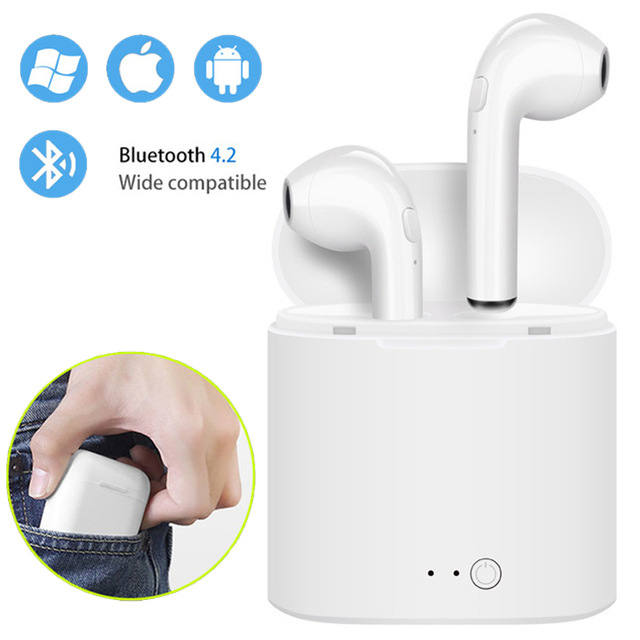 i7s TWS Mini Wireless Bluetooth Earphone Stereo Earbud Headset With Charging Box Mic For Iphone Xiaomi All Smart Phone air pods(China)