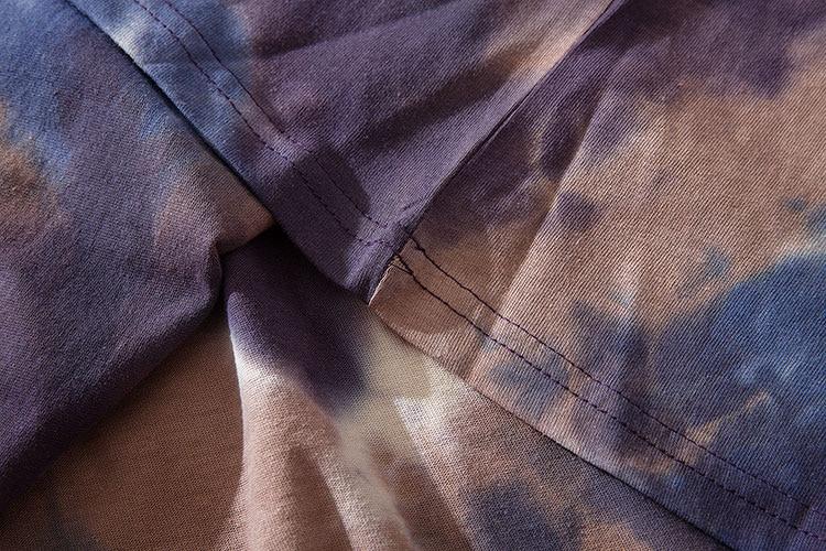 Graffiti Smile Print Tie Dye Tshirts 6