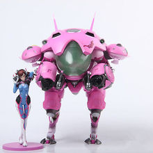 NEW OW Heroes DVA Hana Song Mecha D.Va PVC Figure Statue Model Gift Toy Collectibles Model Doll 480