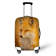 Prevent the impact to prevent scratches Fox Rabbit small Animal pattern luggage case travel must be soft and durable non-slip