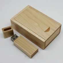2017 Hot Sale Wooden 512 GB USB Flash Drive Pen Drives Maple Wood+Packing Box 8GB 16GB 32GB 64GB Memory Stick Gift Pendrive 2.0(China)