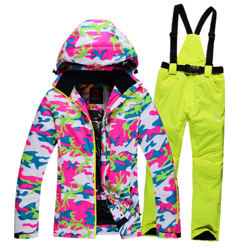2016 New skiing jackets and pants Winter Women snow Suit Sets Windproof Waterproof Breathable Women Skiing suit Warm<br><br>Aliexpress