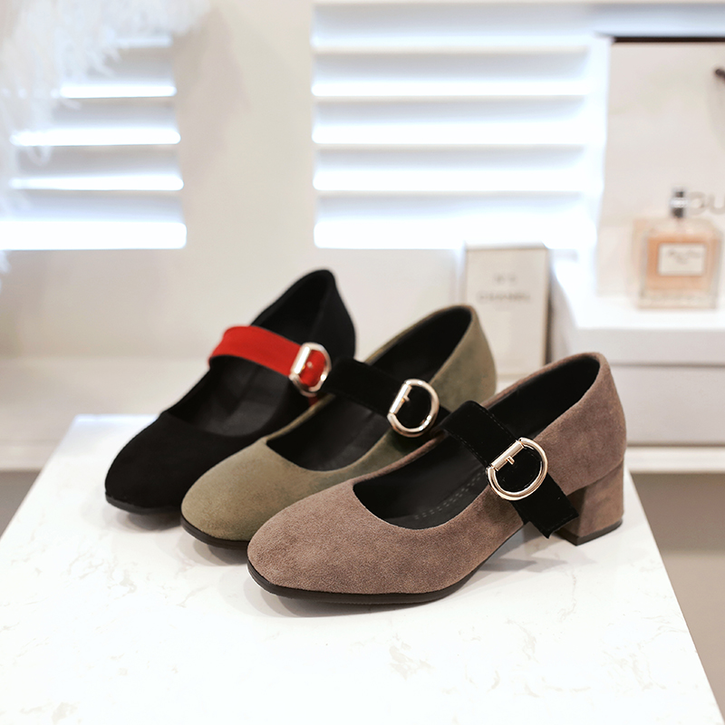 Big and Small 31-48 Size 4  Colour New Spring Autumn Womens Pumps Women Shoes  Square Toe  Square heel 75-5<br>