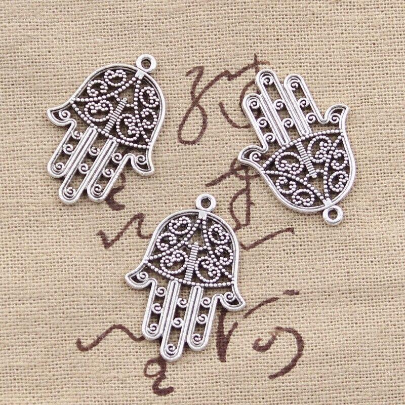 Cigüeña Encantos de Plata Tibetana Colgante De Bebé 10 piezas