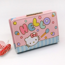 2017 News Genuine Hello kitty purse money wallet High quality PU European and American style long wallet male