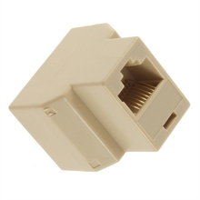 SOCKET RJ45 Splitter Connector CAT5 CAT6 LAN Ethernet Splitter Adapter 8P8C Network modular plug PC laptop cable contact