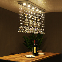 Crystal combination led Ceiling Light League restaurant LED crystal restaurant dining table Crystal light ceiling lamps ZAG