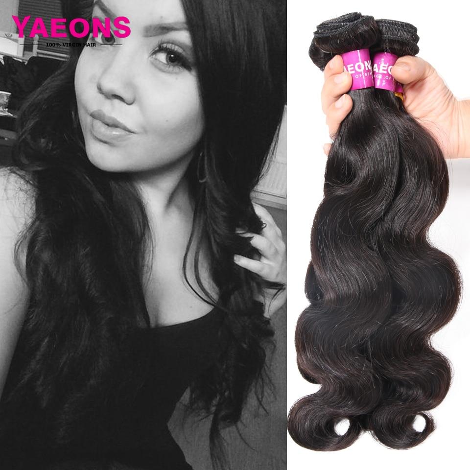 7A Brazilian Virgin Hair Cheap Yaeons Hair Products Virgin Brazilian Body Wave 100% Human Hair 3pcs Brazilian Hair Weave Bundles<br><br>Aliexpress