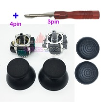 3PIN 4PIN Analogue Joystick Sensor Potentiometers W/ Thumbsticks Silicon Grips for PS 3 PS3 Controller  Analog Joysticks