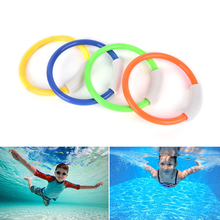 Hot 4Pcs Dive Rings Swimming Pool Diving Game Summer Kid Underwater Diving Ring Sport Diving Buoys Four Loaded Throwing Toys(China)