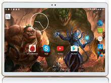 2017 Newest 10 inch Tablet PC Octa Core 4GB RAM 64GB ROM Dual SIM Cards Android 7.0 GPS 3G Tablet PCs 10 10.1 +Gifts k107
