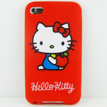 for IPod Touch 4 Case Cover Hello Kitty Soft Phone Back Case Silicone Back Cover for IPod Touch 4(China)