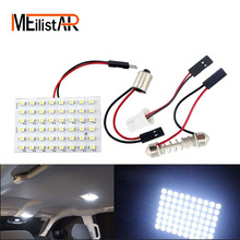 48 LED Auto Car Dome Festoon Interior Bulb Roof Light Lamp with T10 BA9S Festoon Adapter Base Reading light High Quality(China)