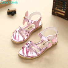 Buy Girls Summer Sandals 2018 New Brand Kids Party Shoes diamond Bowknow Girls Princess Single Flat Shoes Children Beach Sandals for $6.72 in AliExpress store