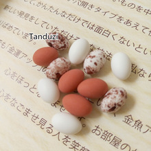 Tanduzi 50pcs Wholesale Resin 3D Cute Quail Egg Pigeon Egg Mini Bird Egg DIY Micro Landscape 1:12 Dollhouse Miniature Deco Parts