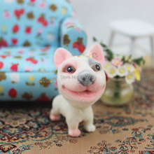 1 12 Scale Dollhouse Miniatures Accessories Animal Cute Dog Puppy Terrier Bobble Head Tail Toys