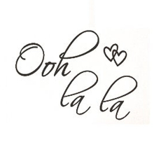 OOH LA LA Paris France Hearts Love Quote Vinyl Wall Decal Decor Art Sticker G250
