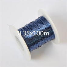 0.35mm/100m QA-1-155 2UEW Blue Magnet Wire 0.35 mm Enameled Copper wire Magnetic Coil Winding