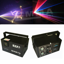 2D/3D 4000mW RGB ILDA DMX Club Party Laser stage light with SD Card 1W Projector LED